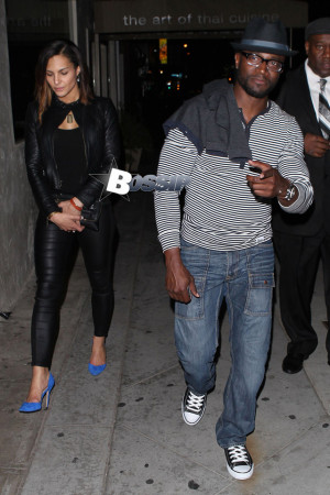 Taye Diggs leaves 1 Oak nightclub with a mystery woman