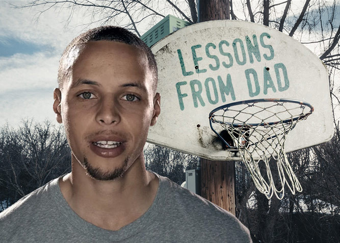 Stephen Curry, An Old Hoop, and Lessons From His Dad