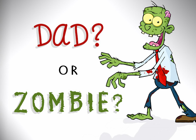 Dad or Zombie? When Dading Feels More Like The Walking Dead - at PlaidDadBlog.com