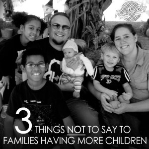 Three Things Not To Say to Families Having More Children - PlaidDadBlog.com