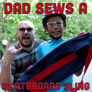 Download The Skateboard Sling Pattern at DadSews and PlaidDadBlog