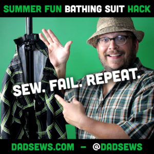 DAD SEWS A BATHING SUIT HACK – QUICK ADJUST WAIST AND HANGER