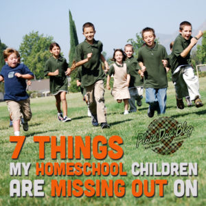Seven Things My Homeschooled Children Are Missing Out On