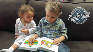Dad's Beginner's Bible Review and Giveaway - Dad reading with his kids - PlaidDadBlog