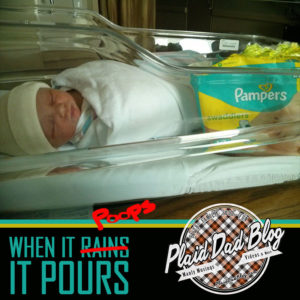 Pampers Saved This Dad From Certain Doom - When It Poops It Pours - PlaidDadBlog and DadSews