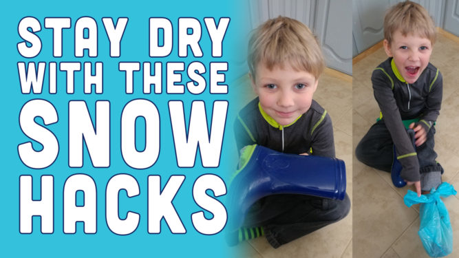 PlaidDadBlog Snow Hacks for parents and kids - snow hacks